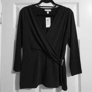 NWT Charter Club Faux Wrap Top